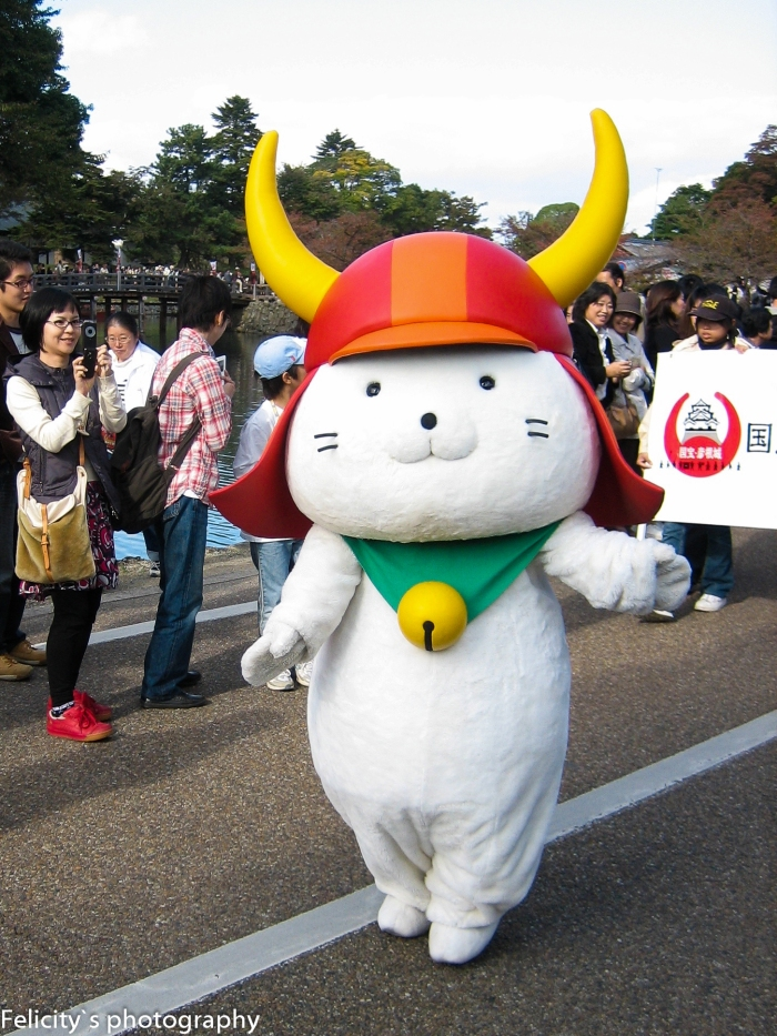 Taken during the actual 400th anniversary festival in 2007, before our cool cat become the national icon he is today.