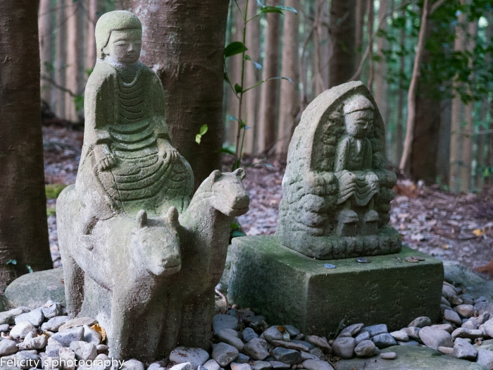 The Gyuba-doji statue on the Kumano Kodo.