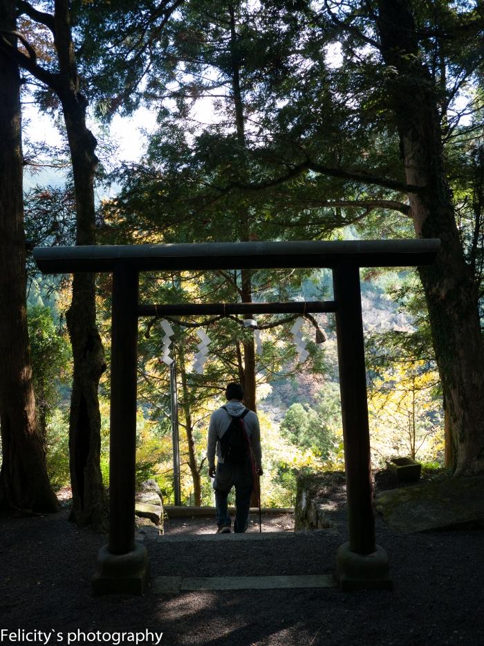 Leaving Takahara Jinja