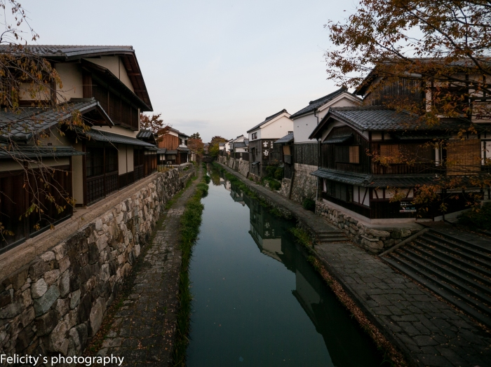 The remains of the Hachiman castle moat, transformed into the canal system of today.