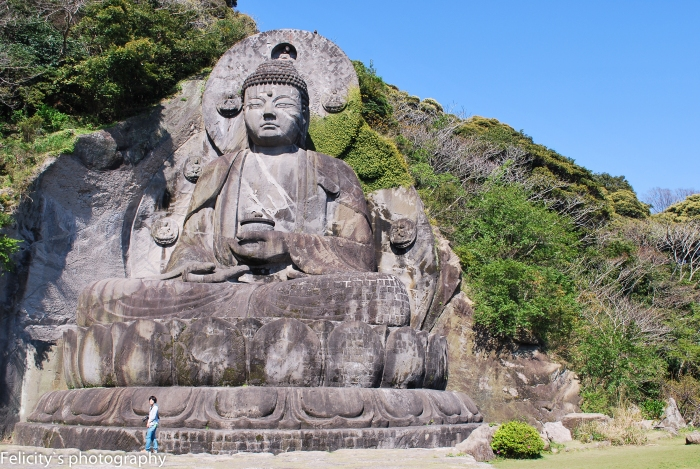 Just to give some scale: a lone photographer is dwarfed by the Daibutsu