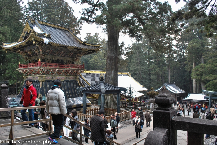 Even on cold weekends the paths of Nikko are busy thoroughfares.