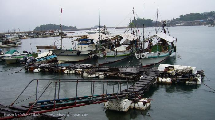 Fishing vessels wait for fine weather.