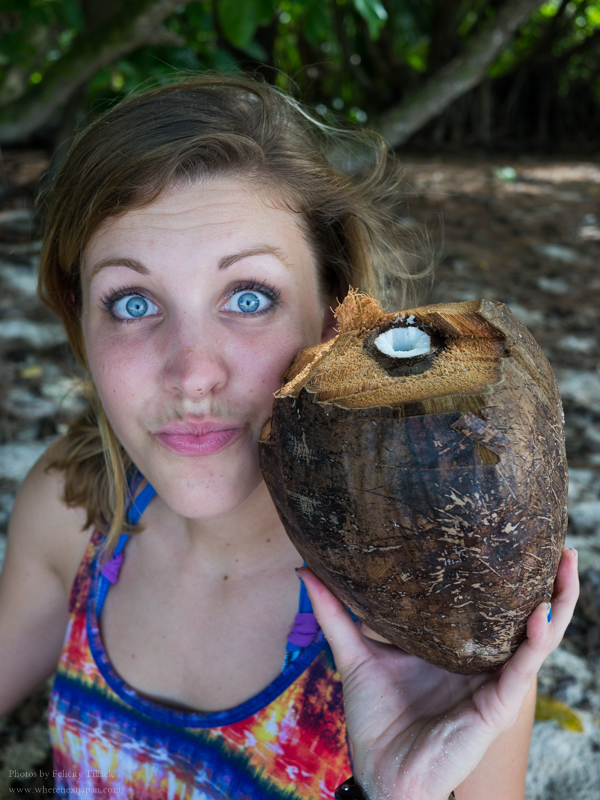 This girl knows how to open a coconut! #mybestieisbetterthanyours