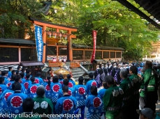 October was the season of festivals. This one occurred at the main shrine in Kongo Buji.