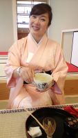 After putting on kimono, we spent several hours practising the intricate motions, and ritual words used in tea ceremony.
